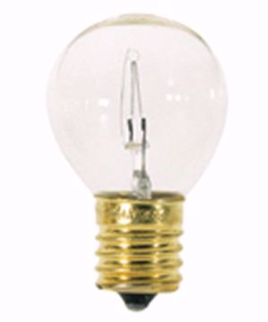 Picture of SATCO S3630 25W S11 CLEAR INT Incandescent Light Bulb