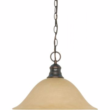 "Picture of 1 LT 16"" HANGING DOME PENDANT"