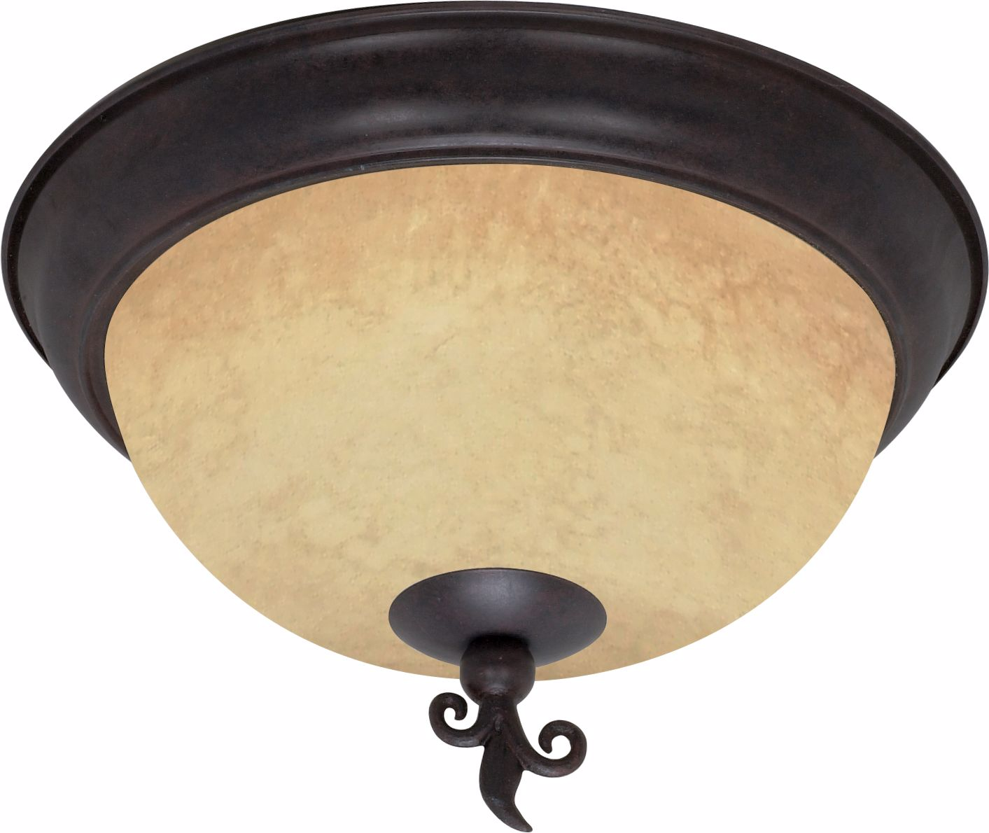 "Picture of NUVO Lighting 60/041 Tapas - 3 Light - 15"" - Flush Mount - with Tuscan Suede Glass"