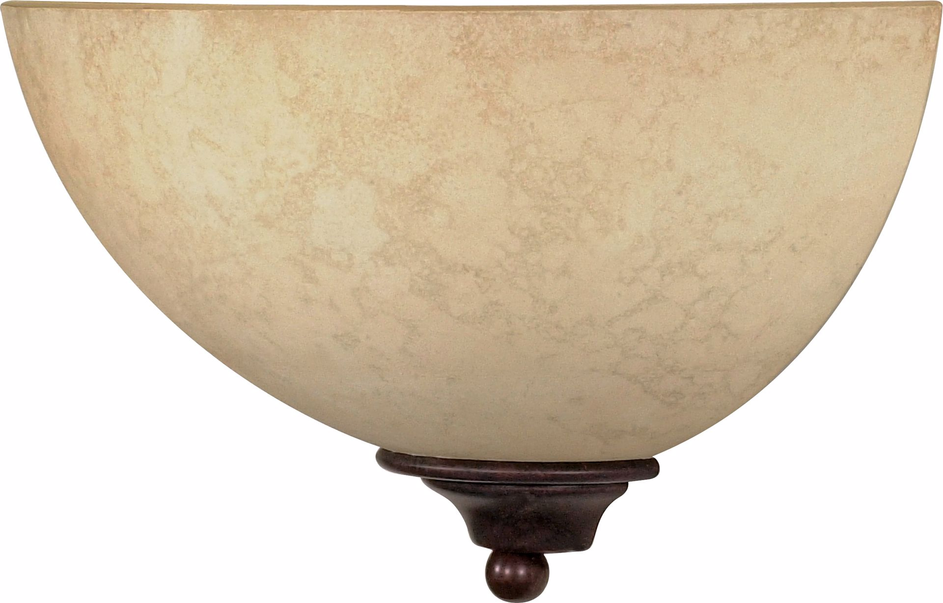 "Picture of NUVO Lighting 60/044 Tapas - 1 Light - 12"" - Sconce - with Tuscan Suede Glass"