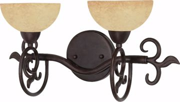 """Picture of NUVO Lighting 60/046 Tapas - 2 Light - 18"""" - Vanity - with Tuscan Suede Glass"""