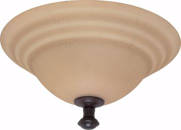 "Picture of NUVO Lighting 60/102 Mericana - 2 Light - 16"" - Flush Mount - with Amber Water Glass"