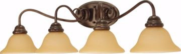 """Picture of NUVO Lighting 60/1036 Castillo - 4 Light - 33"""" - Wall Fixture - with Champagne Linen Washed Glass"""