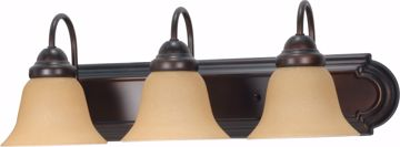 """Picture of NUVO Lighting 60/1265 Ballerina 3 Light 24"""" Vanity with Champagne Linen Washed Glass"""