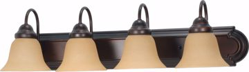 """Picture of NUVO Lighting 60/1266 Ballerina 4 Light 30"""" Vanity with Champagne Linen Washed Glass"""