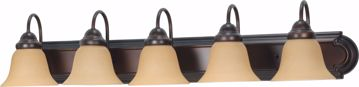 """Picture of NUVO Lighting 60/1267 Ballerina 5 Light 36"""" Vanity with Champagne Linen Washed Glass"""