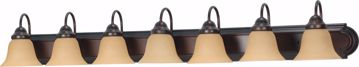 """Picture of NUVO Lighting 60/1268 Ballerina 7 Light 48"""" Vanity with Champagne Linen Washed Glass"""