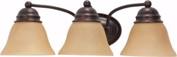 """Picture of NUVO Lighting 60/1272 Empire 3 Light 21"""" Vanity with Champagne Linen Washed Glass"""