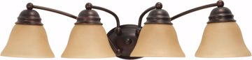 """Picture of NUVO Lighting 60/1273 Empire 4 Light 29"""" Vanity with Champagne Linen Washed Glass"""