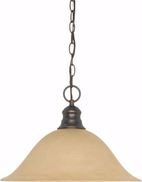 "Picture of NUVO Lighting 60/1276 1 Light 16"" Pendant with Champagne Linen Washed Glass"