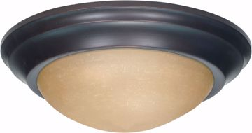 """Picture of NUVO Lighting 60/1281 1 Light 12"""" Flush Mount Twist & Lock with Champagne Linen Washed Glass"""