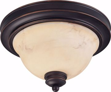 """Picture of NUVO Lighting 60/1405 Anastasia - 2 Light 11"""" Flush Dome with Honey Marble Glass"""