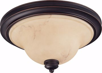 """Picture of NUVO Lighting 60/1407 Anastasia - 2 Light 15"""" Flush Dome with Honey Marble Glass"""