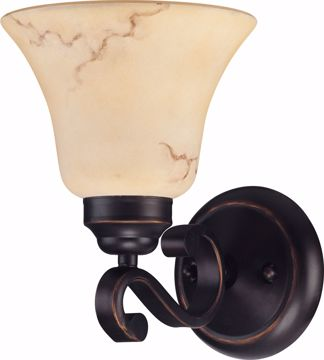 Picture of NUVO Lighting 60/1412 Anastasia - 1 Light Vanity with Honey Marble Glass