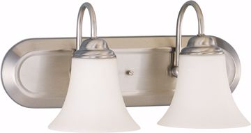 Picture of NUVO Lighting 60/1833 Dupont - 2 Light Vanity with Satin White Glass