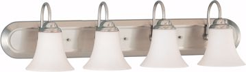 Picture of NUVO Lighting 60/1835 Dupont - 4 Light Vanity with Satin White Glass