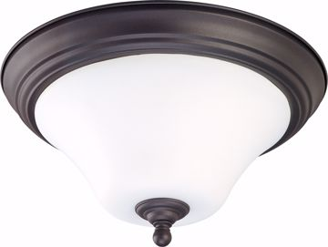"""Picture of NUVO Lighting 60/1846 Dupont - 2 light 15"""" Flush Mount with Satin White Glass"""