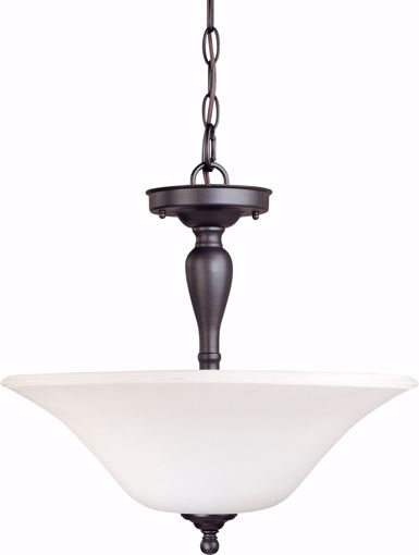 Picture of NUVO Lighting 60/1847 Dupont - 3 Light Semi Flush with Satin White Glass