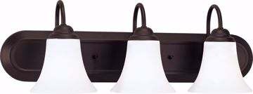 Picture of NUVO Lighting 60/1854 Dupont - 3 Light Vanity with Satin White Glass