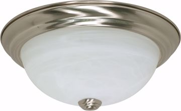 """Picture of NUVO Lighting 60/197 2 Light - 11"""" - Flush Mount - Alabaster Glass"""