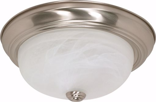 """Picture of NUVO Lighting 60/198 2 Light - 13"""" - Flush Mount - Alabaster Glass"""