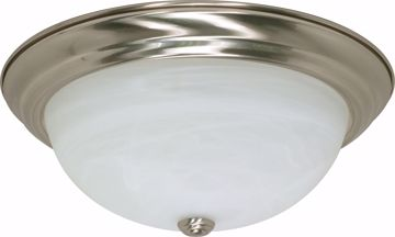 """Picture of NUVO Lighting 60/199 3 Light - 15"""" - Flush Mount - Alabaster Glass"""