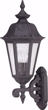 Picture of NUVO Lighting 60/2031 Cortland - 3 Light Large Wall Lantern- Arm Up with Seeded Glass