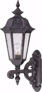 Picture of NUVO Lighting 60/2033 Cortland - 1 Light Mid-Size Wall Lamp Arm Up with Seeded Glass