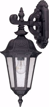 Picture of NUVO Lighting 60/2034 Cortland - 1 Light Mid-Size Wall Lamp Arm Down with Seeded Glass
