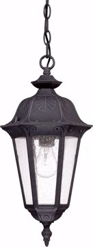 Picture of NUVO Lighting 60/2038 Cortland - 1 Light Hanging Lantern- with Seeded Glass