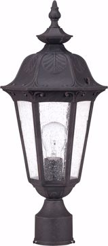 Picture of NUVO Lighting 60/2039 Cortland - 1 Light Mid-Size Post Lantern- with Seeded Glass