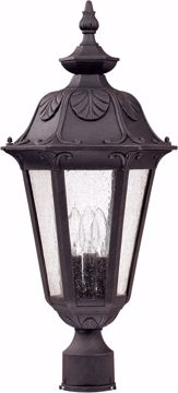 Picture of NUVO Lighting 60/2040 Cortland - 3 Light Large Post Lantern- with Seeded Glass
