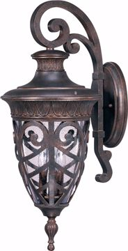 Picture of NUVO Lighting 60/2052 Aston - 3 Light Large Wall Lantern Arm Down with Seeded Glass