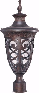 Picture of NUVO Lighting 60/2059 Aston - 1 Light Mid-Size Post Lantern with Seeded Glass