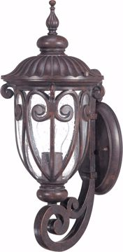 Picture of NUVO Lighting 60/2065 Corniche - 1 Light Small Wall Lantern Arm Up with Seeded Glass