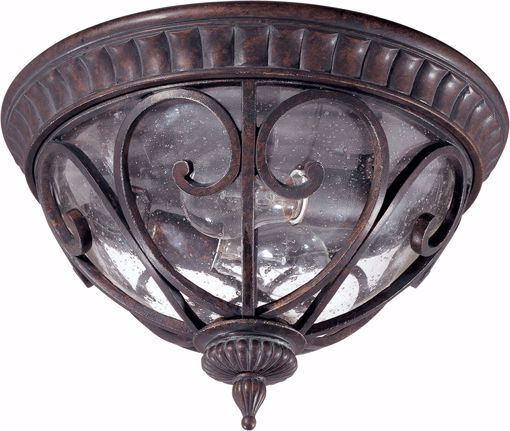 Picture of NUVO Lighting 60/2067 Corniche - 2 Light Flush Dome with Seeded Glass