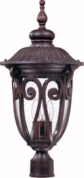 Picture of NUVO Lighting 60/2070 Corniche - 3 Light Large Post Lantern with Seeded Glass