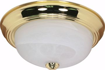 """Picture of NUVO Lighting 60/214 2 Light - 13"""" - Flush Mount - Alabaster Glass"""