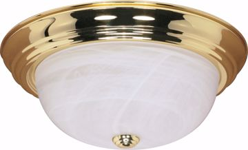 """Picture of NUVO Lighting 60/215 3 Light - 15"""" - Flush Mount - Alabaster Glass"""