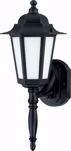 """Picture of NUVO Lighting 60/2203 Cornerstone ES - 1 Light 18"""" - CFL Wall Lantern with Satin White Glass - 13w GU24 Included"""