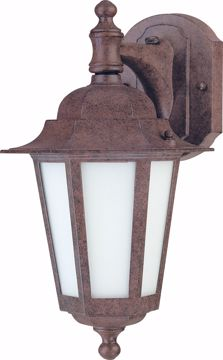 """Picture of NUVO Lighting 60/2205 Cornerstone ES - 1 Light 13"""" - CFL Wall Lantern with Satin White Glass - 13w GU24 Included"""