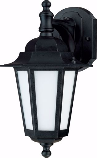 """Picture of NUVO Lighting 60/2206 Cornerstone ES - 1 Light 13"""" - CFL Wall Lantern with Satin White Glass - 13w GU24 Included"""