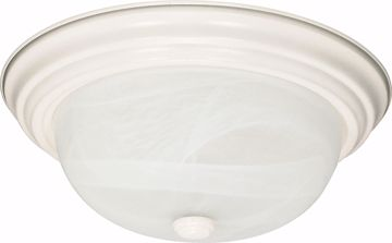 """Picture of NUVO Lighting 60/221 2 Light - 11"""" - Flush Mount - Alabaster Glass"""