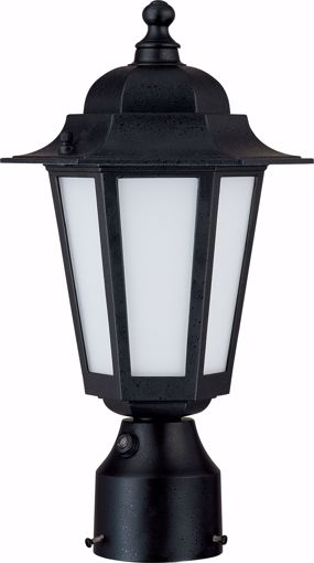 """Picture of NUVO Lighting 60/2213 Cornerstone ES - 1 Light 14"""" - CFL Post Lantern with Satin White Glass - 13w GU24 Included"""