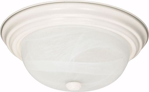 """Picture of NUVO Lighting 60/222 2 Light - 13"""" - Flush Mount - Alabaster Glass"""