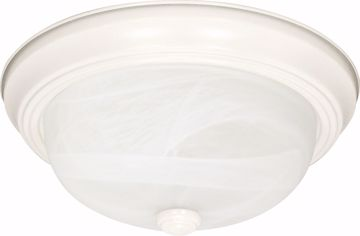"""Picture of NUVO Lighting 60/223 3 Light - 15"""" - Flush Mount - Alabaster Glass"""
