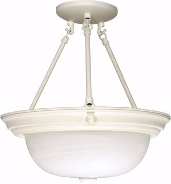 """Picture of NUVO Lighting 60/226 3 Light - 15"""" - Semi-Flush - Alabaster Glass"""