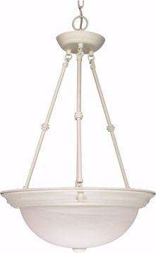 "Picture of NUVO Lighting 60/227 3 Light - 15"" - Pendant - Alabaster Glass"