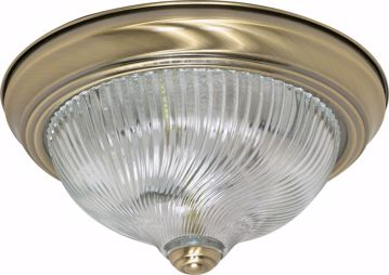 """Picture of NUVO Lighting 60/229 2 Light - 11"""" - Flush Mount - Clear Swirl Glass"""