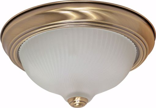 """Picture of NUVO Lighting 60/237 2 Light - 11"""" - Flush Mount - Frosted Swirl Glass"""